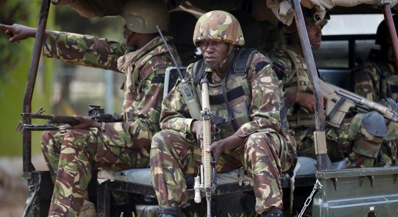 KDF Soldiers on patrol