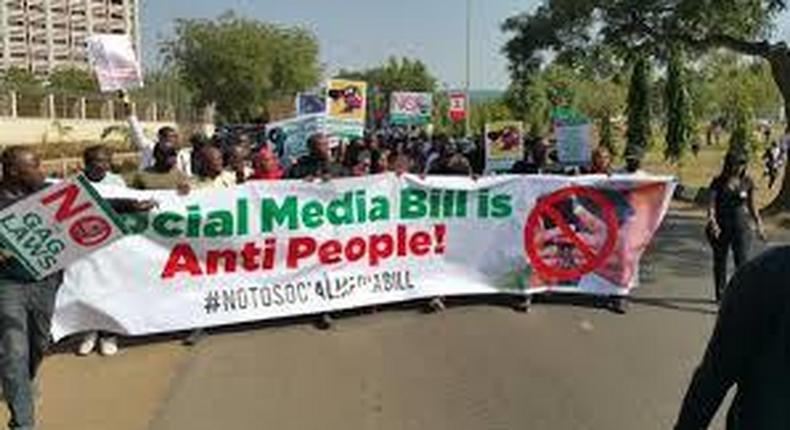 Nigerians rally against Social media bill (AITonline)