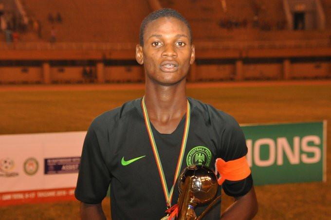 Samson Tijani was the MVP of the 2018 WAFU Zone B tournament (Twitter/NFF)