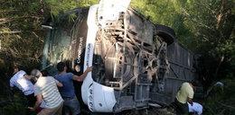 Wypadek autokaru z polskimi turystami. Wiele osób rannych