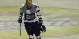 Policjant zagrał w charytatywnym meczu hokeja na lodzie