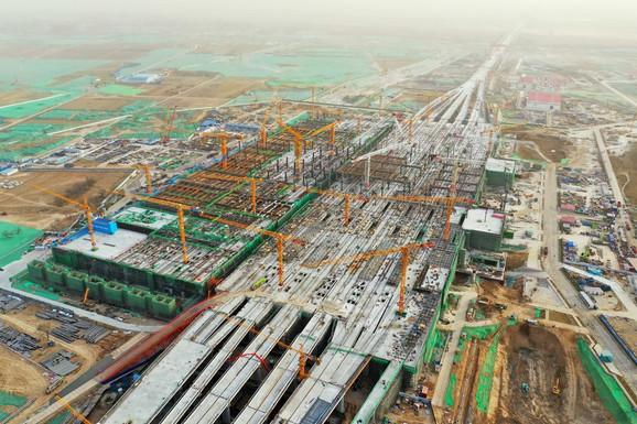 Kina će već 2030. zauzeti prvo mesto (foto: izgradnja pruge Peking-Sjongan)
