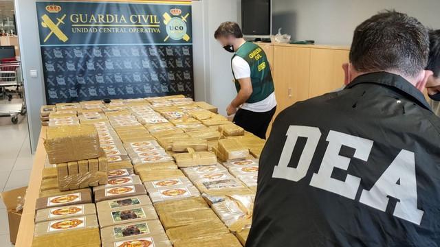 Kokain zaplenjen u Španiji foto Guardia Civil