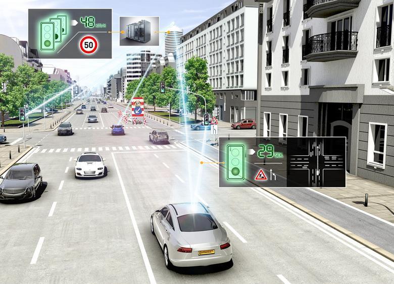 Poprzez internet samochodybędą się wzajemniekomunikowały i ostrzegałyo utrudnieniach drogowych