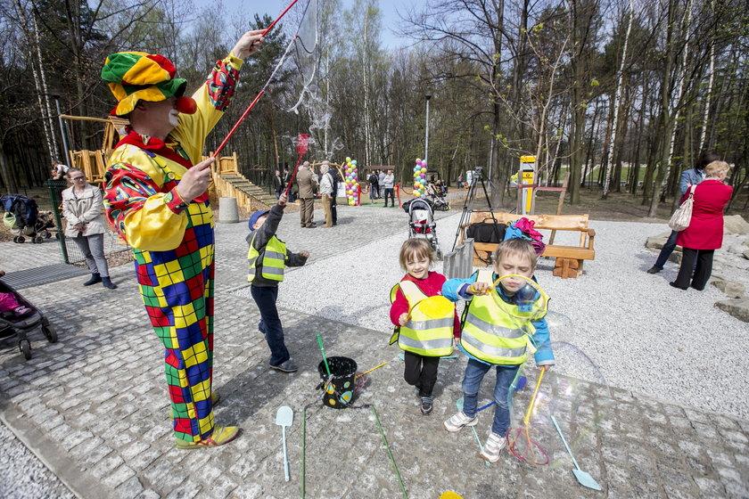 Katowice. Otwarcie placu zabaw w Parku Zadole
