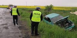 Pijany kierowca rozbił auto. Porzucił rannych znajomych!