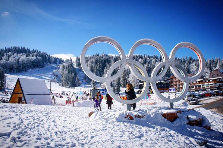 Jahorina Olimpijski krugovi ulaz na planinu foto Promo foto Promo