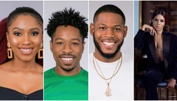 Mercy, Ike, Joe, Frodd, Esther and Venita are in two love triangles threatening to tear up the BBNaija house in coming weeks. [Multichoice NG]