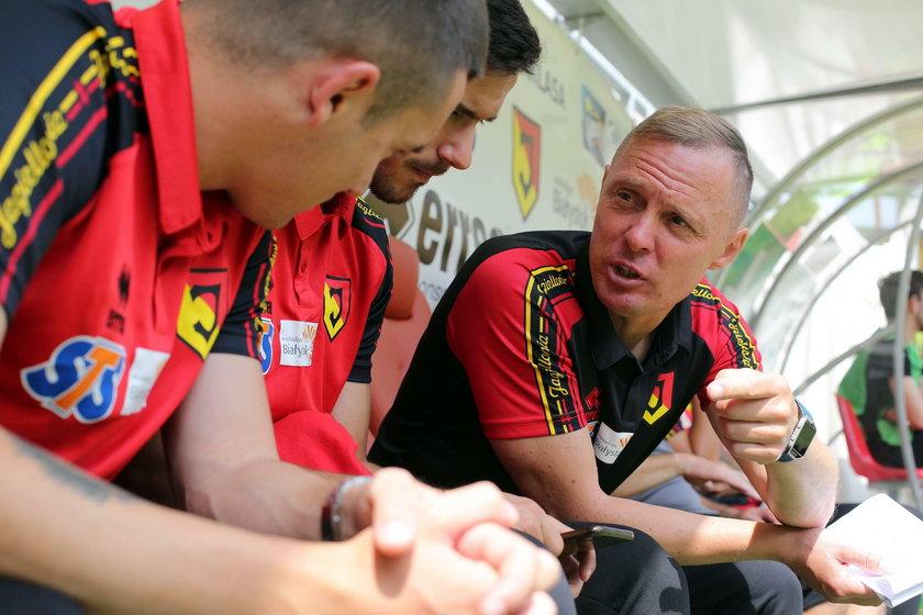Trener Jagiellonii nauczył się pracować pod presją.