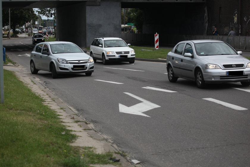 Samochody na ul. Kołobrzeskiej