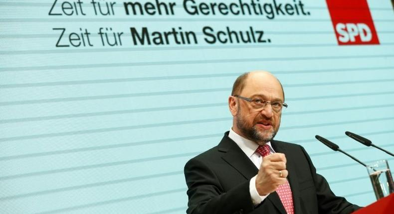 German Social Democratic leader Martin Schulz's energetic campaigning has fuelled a rise in his party's popularity, with polls showing him now just ahead of rival Chancellor Angela Merkel