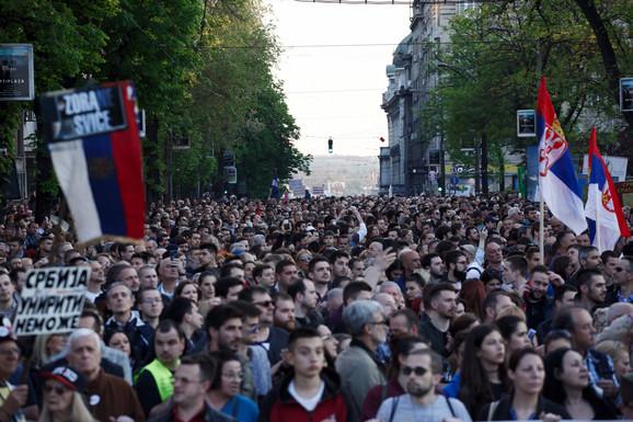 Protest 'Svi kao jedan – 1 od 5 miliona'