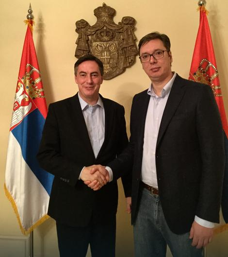 Dejvid Mekalister i Aleksandar Vučić u Beogradu
