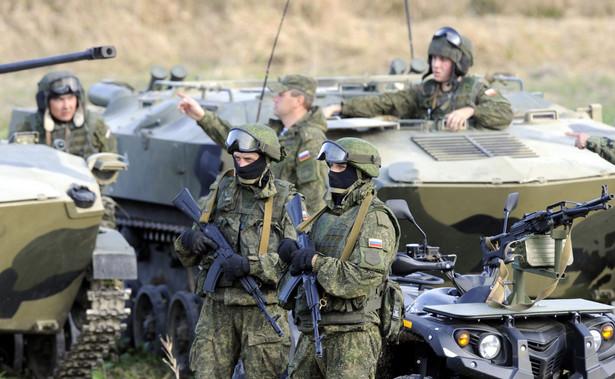 rosyjska armia na manewrach