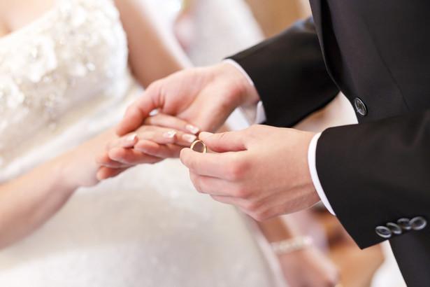 ślub, cerremonia, obrączka