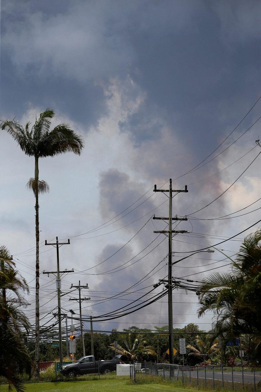 Erupcje wulkanu na Hawajach. Lawa dotarła do elektrowni