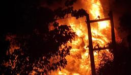 Fire in Ikeja (Rotimi Olawale @Rotexonline)
