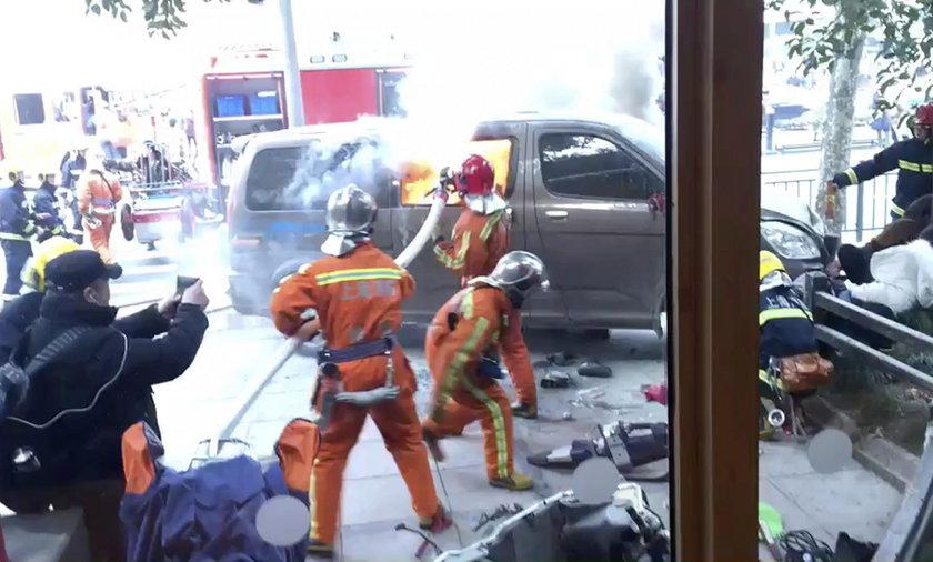 Samochód wjechał w tłum. Wielu rannych