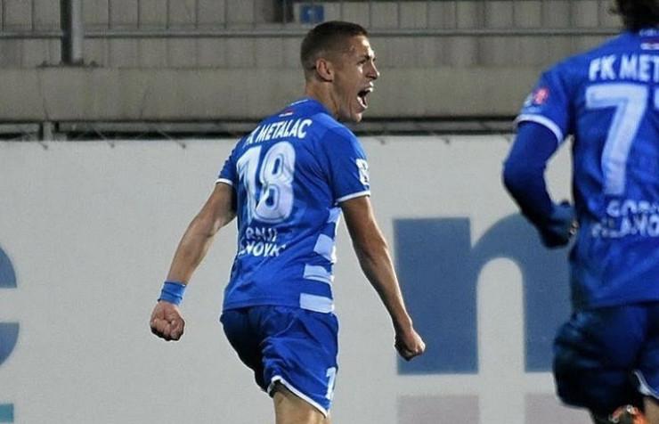 Savo Armbašić, talentovani napadač Partizana slavi pogodak u dresu Metalca