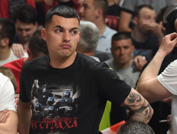 Nemanja Radonjić, nekadašnji fudbaler Crvene zvezde, došao je da pruži podršku košarkašima