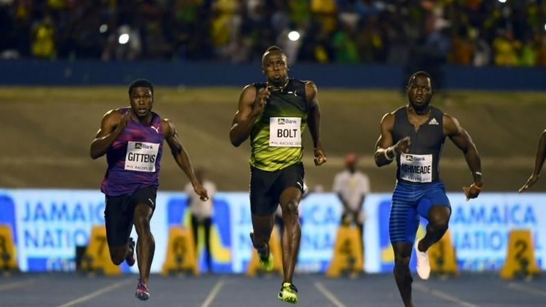 Usain Bolt ran in front of a sea of green and yellow clad Jamaican fansand cruised to victory in a time of 10.03, well below his world record time but good enough to beat a solid field that included runner-up Javaughn Minzie of Jamaica