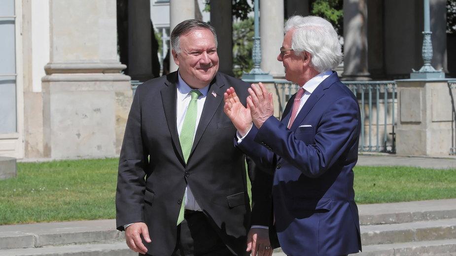 Mike Pompeo i Jacek Czaputowicz