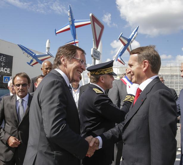 Siergiej Naryszkin - na zdjęciu archiwalnym z prezydentem Francji Emmanuelem Macronem