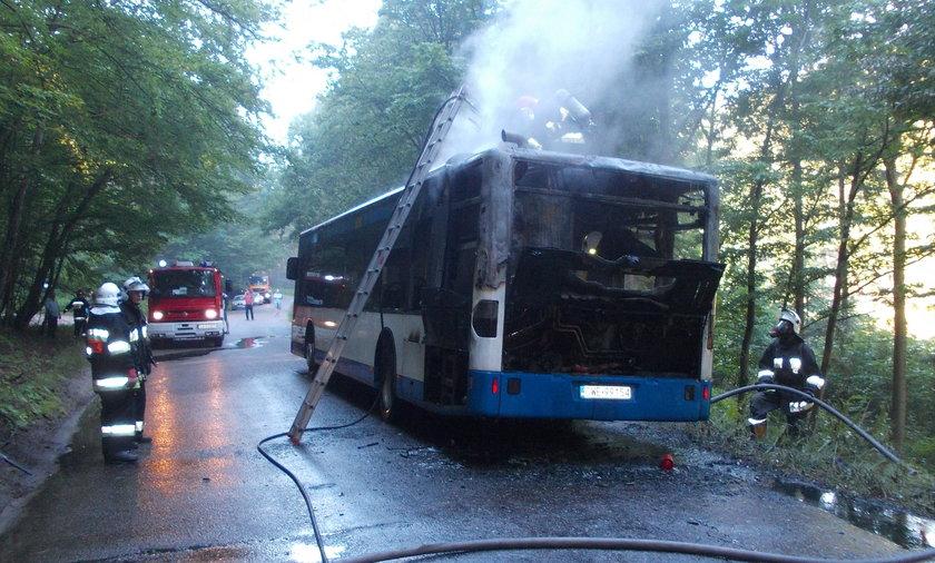 Pożar autobusu w Gdyni