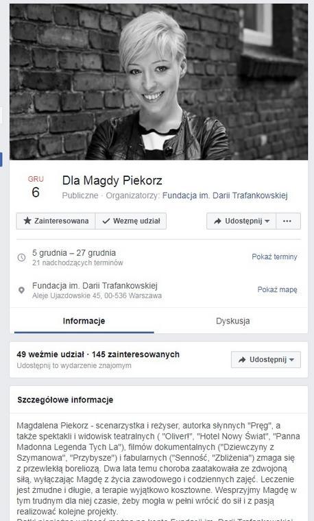 Magdalena Piekorz jest chora. Ruszyła zbiórka pieniędzy