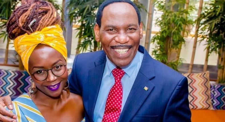 Ann Kansiime with Ezekiel Mutua