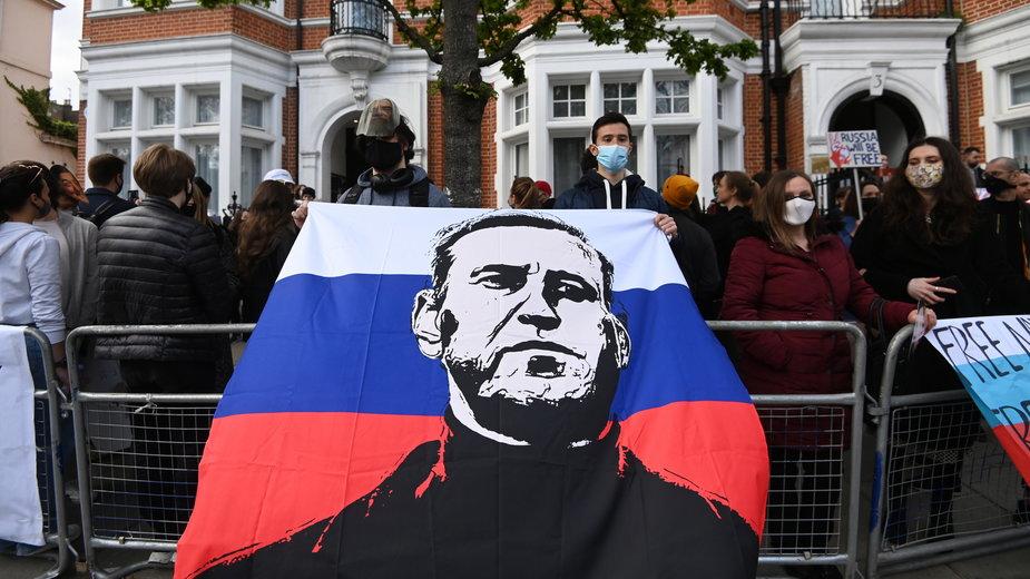 Protest w obronie Aleksieja Nawalnego w Londynie