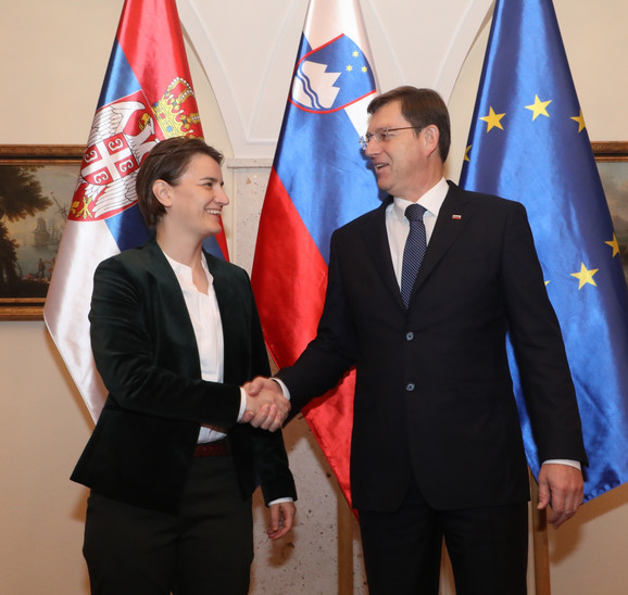 Ana Brnabić i Miro Cerar u Ljubljani