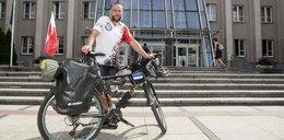 Waldemar Malina pojechał na rowerze do Czeczenii