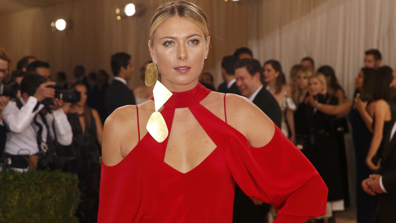 Tennis player Maria Sharapova arrives at the Met Gala in New York