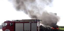 Wielki pożar i poszkodowani na składowisku odpadów