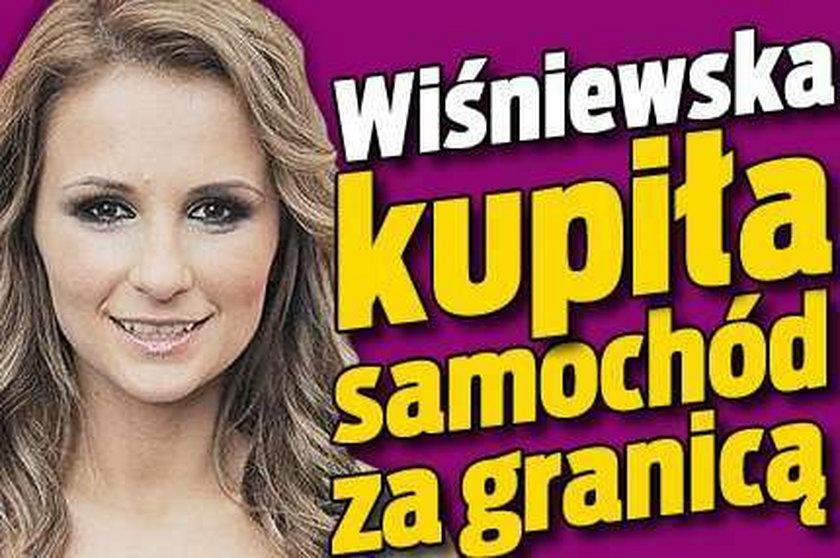 Wiśniewska kupiła auto za granicą