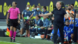 Pressure is mounting on Barcelona coach Ronald Koeman after Thursday's goalless draw with Cadiz. Creator: CRISTINA QUICLER
