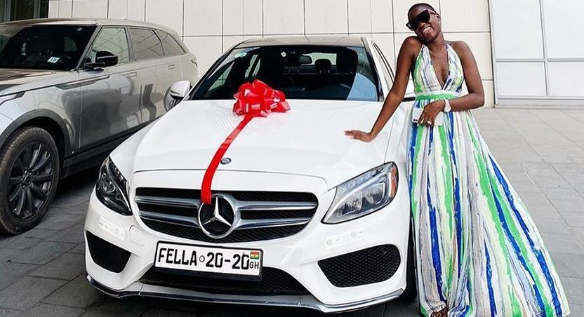 Fella Manafui gets new car from Medikal