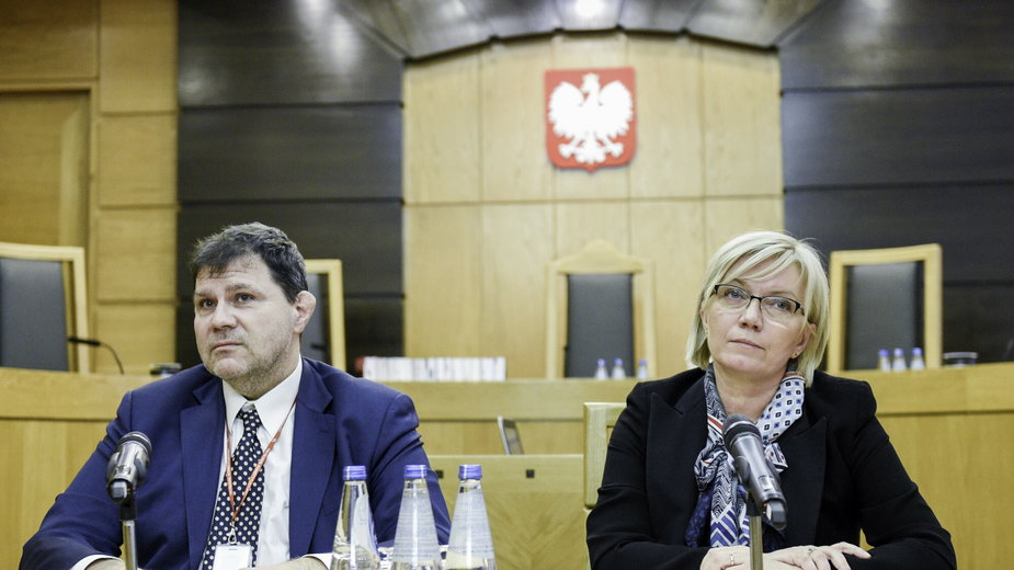 Od lewej: Mariusz Muszyński i Julia Przyłębska