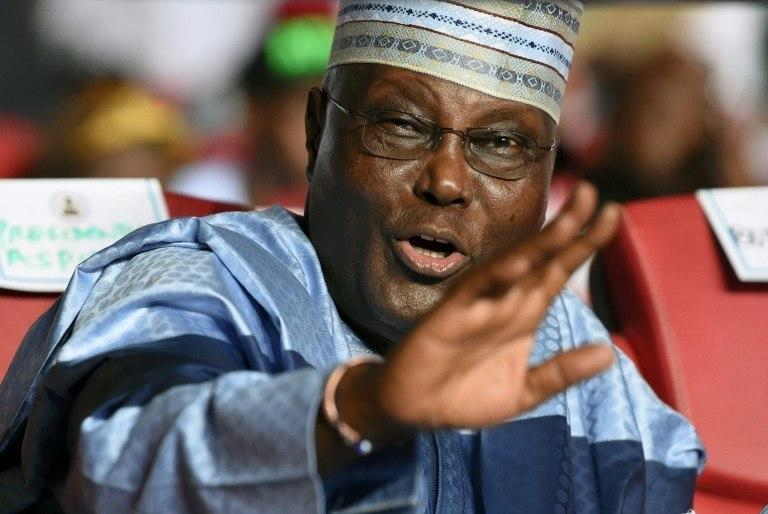 Atiku has told everyone who cares to listen that Buhari owns Keystone Bank and 9Mobile (AFP)