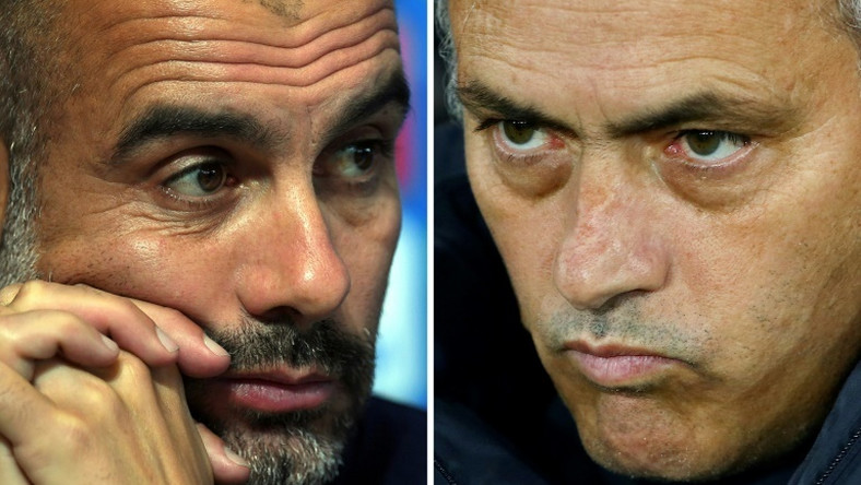 Pep Guardiola (left) and Jose Mourinho are renewing their long-running rivalry