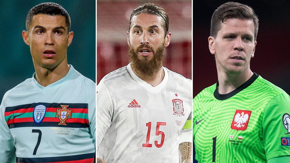Cristiano Ronaldo, Sergio Ramos, Wojciech Szczęsny
