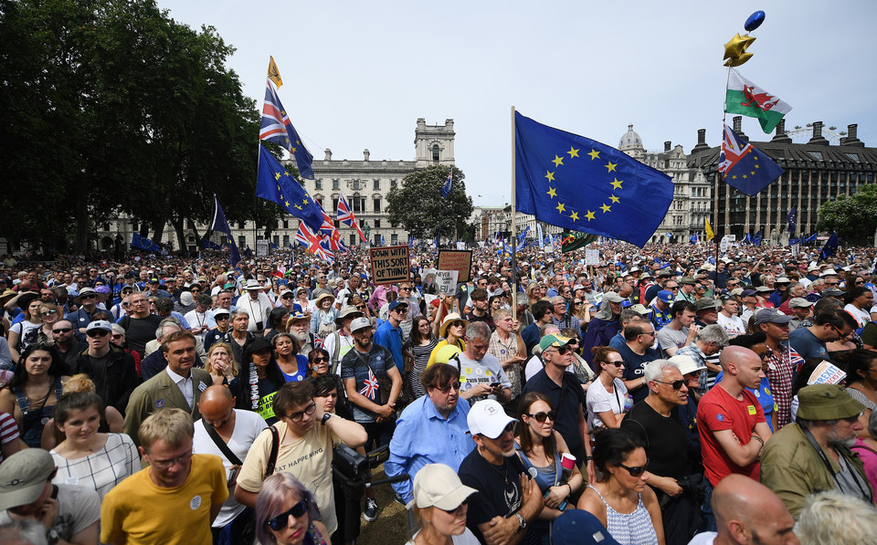 epa06833893 - BRITAIN BREXIT PEOPLES MARCH (People's March Against Brexit in London)