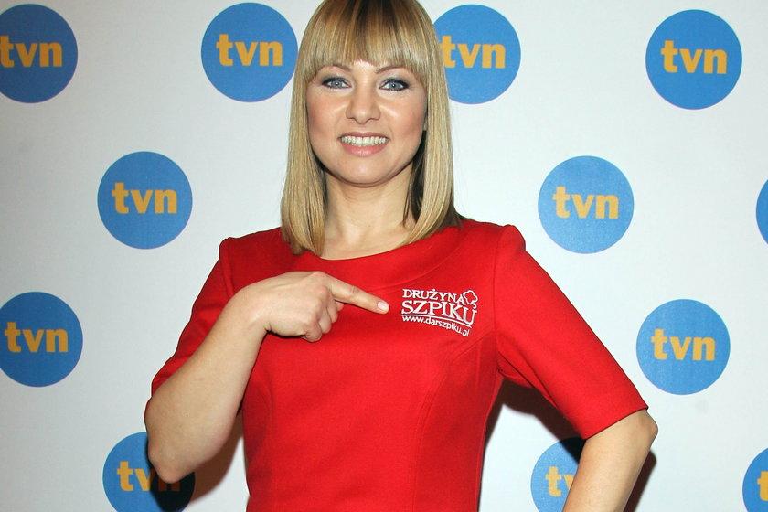 Katarzyna Bujakiewicz na prezentacji ramówki TVN