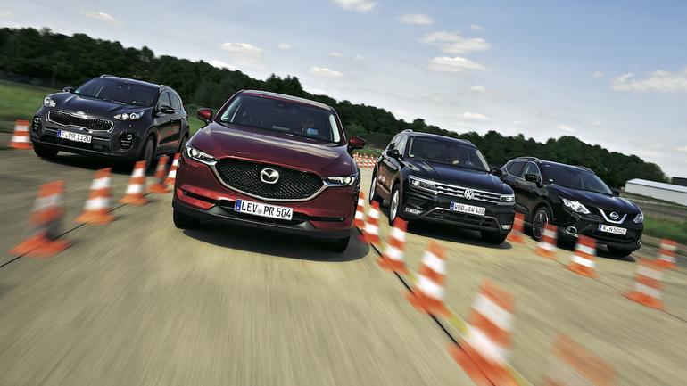 Nowa Mazda CX-5 kontra Kia Sportage, Nissan Qashqai i VW Tiguan