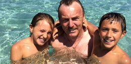 Boniek na wakacjach z wnukami