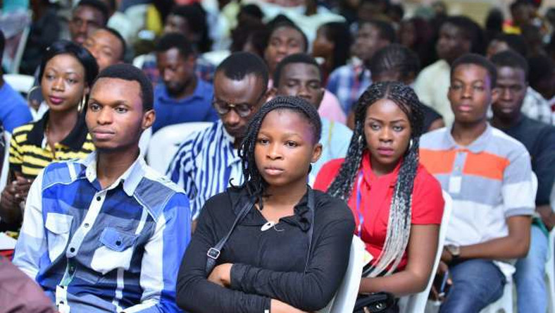 UNILAG undergraduates listening to industry experts on career tips and development. (Pulse)