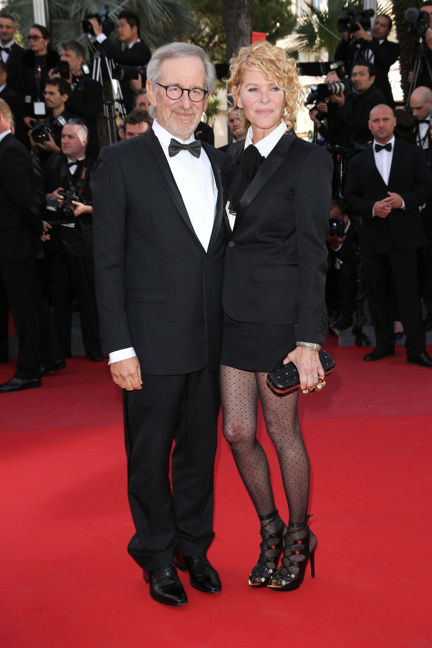 Steven Spielberg (reżyser) i Kate Capshaw (aktorka)