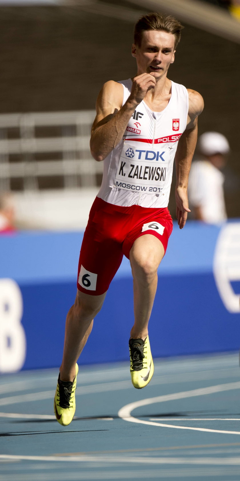 Karol Zalewski w biegu na 200 metrów