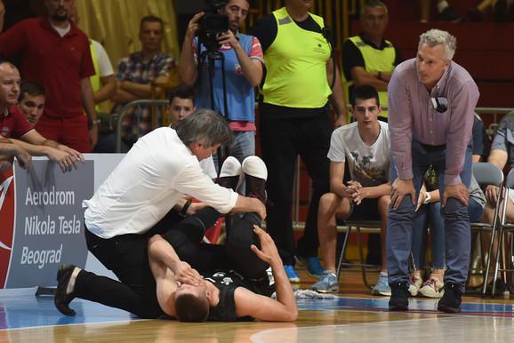Povređeni Vanja Marinković
